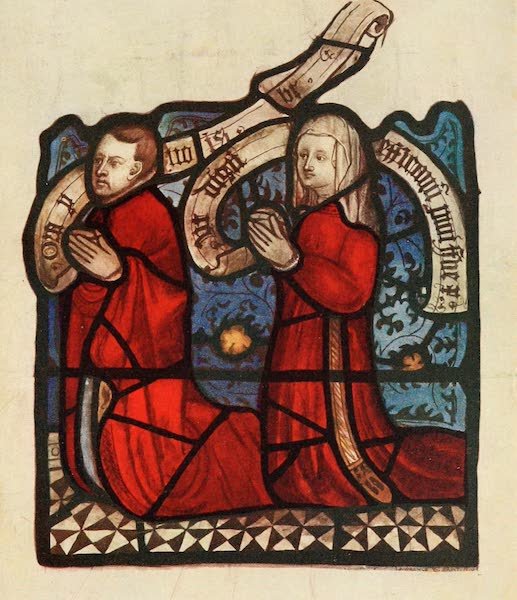 Stained Glass of the Middle Ages in England and France - Kneeling Donors, from