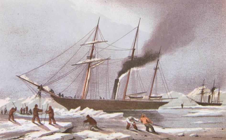 Stray Leaves from an Arctic Journal - Breaking Through the Ice (1852)