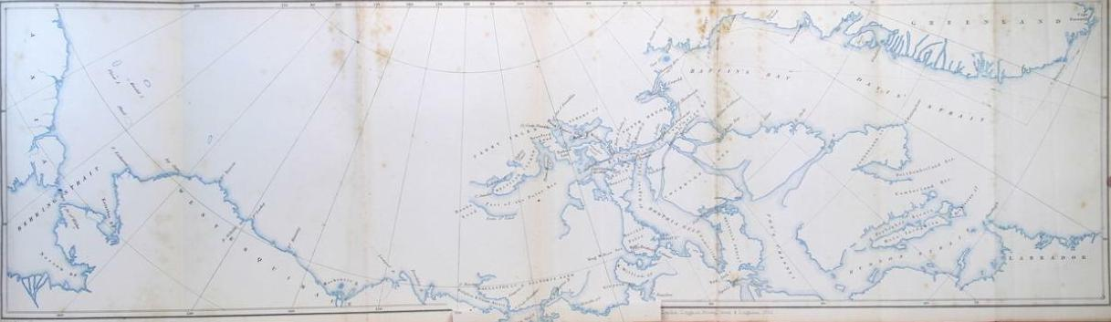 Stray Leaves from an Arctic Journal - Map shewing the Track of H.M.S. Pioneer, in search of Sir John Franklin, 1851-1852 (1852)