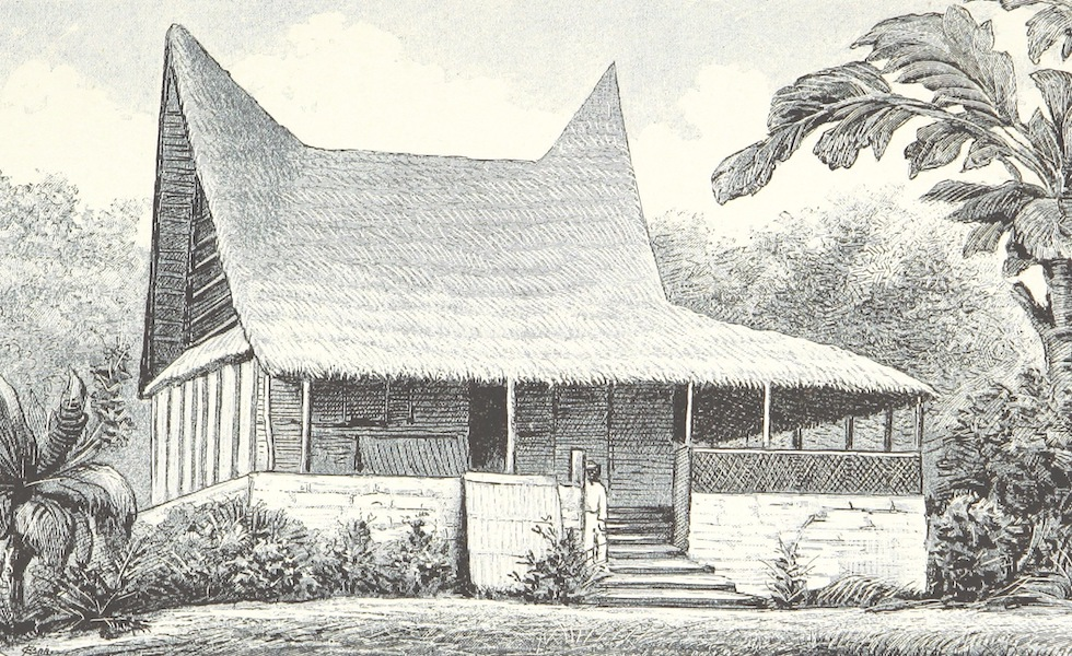 Sudsee-Erinnerungen - Tokosa's Wohnhaus (1883)