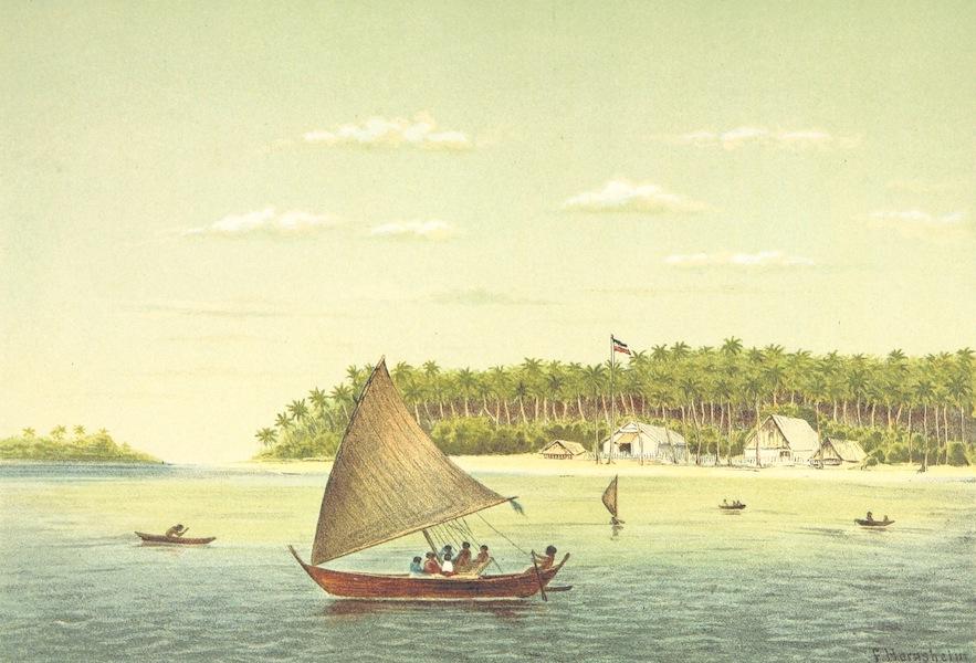 Sudsee-Erinnerungen - Hafen von Jaluit, Marshall-Ins (1883)