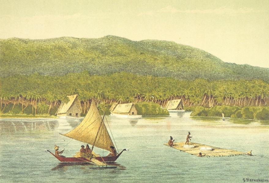Sudsee-Erinnerungen - Hafen von Jap (1883)