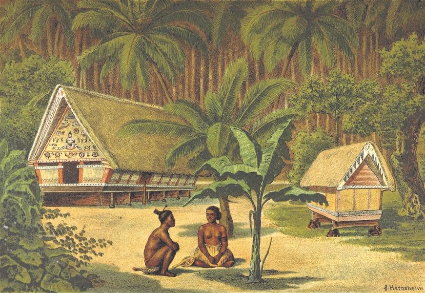 Sudsee-Erinnerungen - Palao - Gemeindehaus and Hutte fur gute Geister (1883)