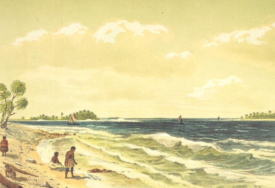 Sudsee-Erinnerungen - Passage zum Hafen von Jaluit (1883)