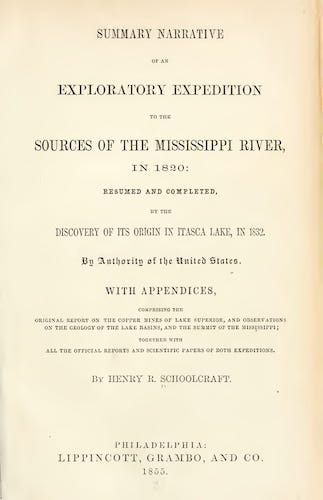 California Digital Library - Summary Narrative of an Exploratory Expedition to the Sources of the Mississippi River