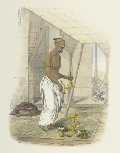 The Sundhya, or, the Daily Prayers of the Brahmins - Poojah [Puja] of Mahadeo [Maha-deva] (1851)