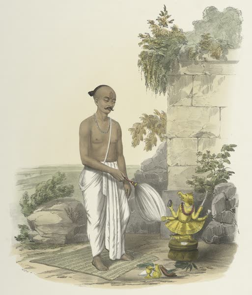 The Sundhya, or, the Daily Prayers of the Brahmins - Poodjah [Puja] of Gunesh [Gane´sa] (1851)