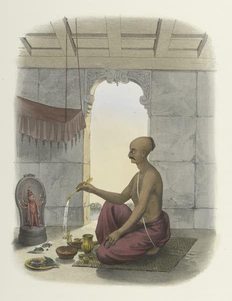 The Sundhya, or, the Daily Prayers of the Brahmins - Poojah [Pûja] of Hunooman [Hanumân] (1851)