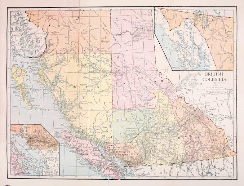 Sunset Canada, British Columbia and Beyond - Map of British Columbia (1918)