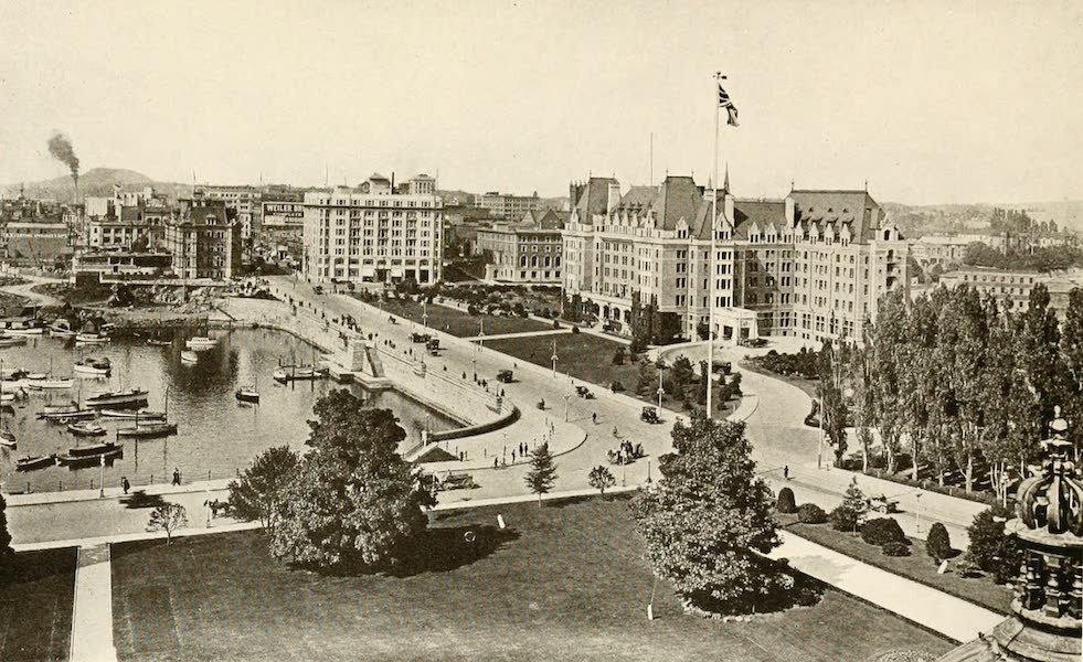 Sunset Canada, British Columbia and Beyond - Victoria, from House of Parliament (1918)