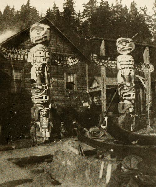 Sunset Canada, British Columbia and Beyond - Totems and Dug-out Canoes, Nootka Sound (1918)