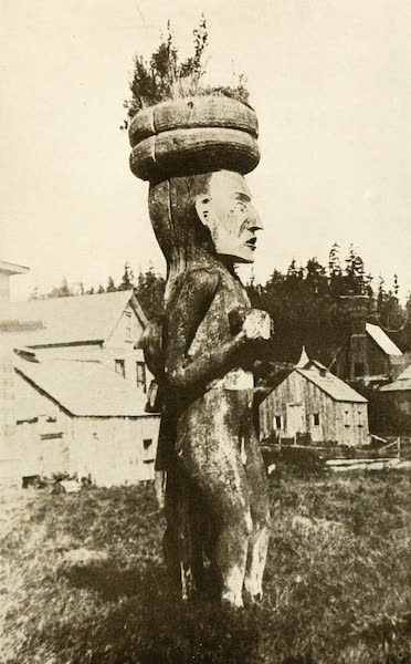 Sunset Canada, British Columbia and Beyond - Totem Carved to Represent White Man (1918)