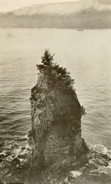Sunset Canada, British Columbia and Beyond - Siwash Rock, Stanley Park, Vancouver (1918)