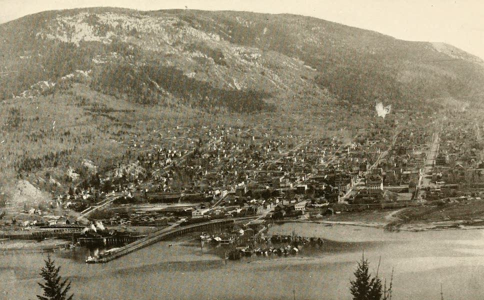 Sunset Canada, British Columbia and Beyond - View of Nelson, from Kootenay River (1918)
