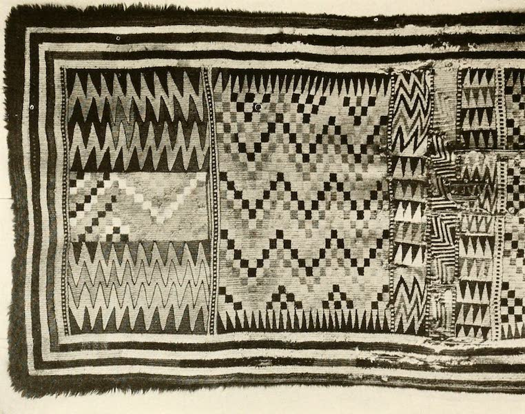 Sunset Canada, British Columbia and Beyond - Indian Blanket Woven from Mountain Goat Wool (1918)