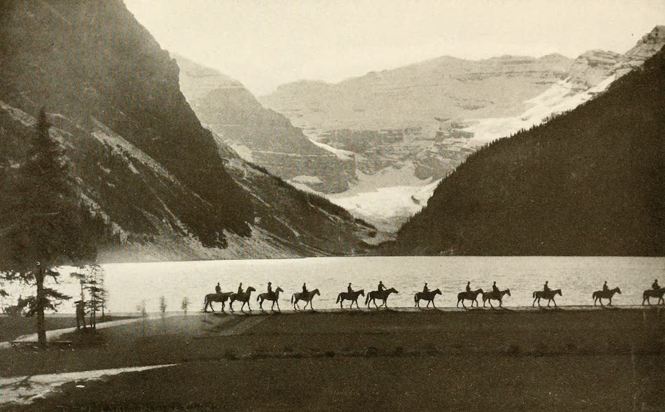 Sunset Canada, British Columbia and Beyond - Lake Louise and Victoria Glacier (1918)