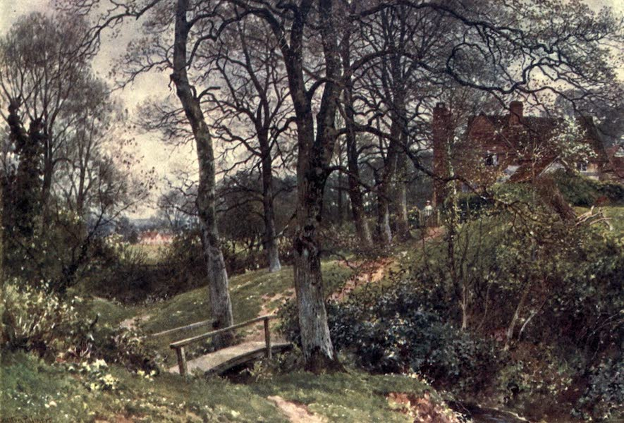 Surrey Painted and Described - A Path to the Village, Ockley (1906)