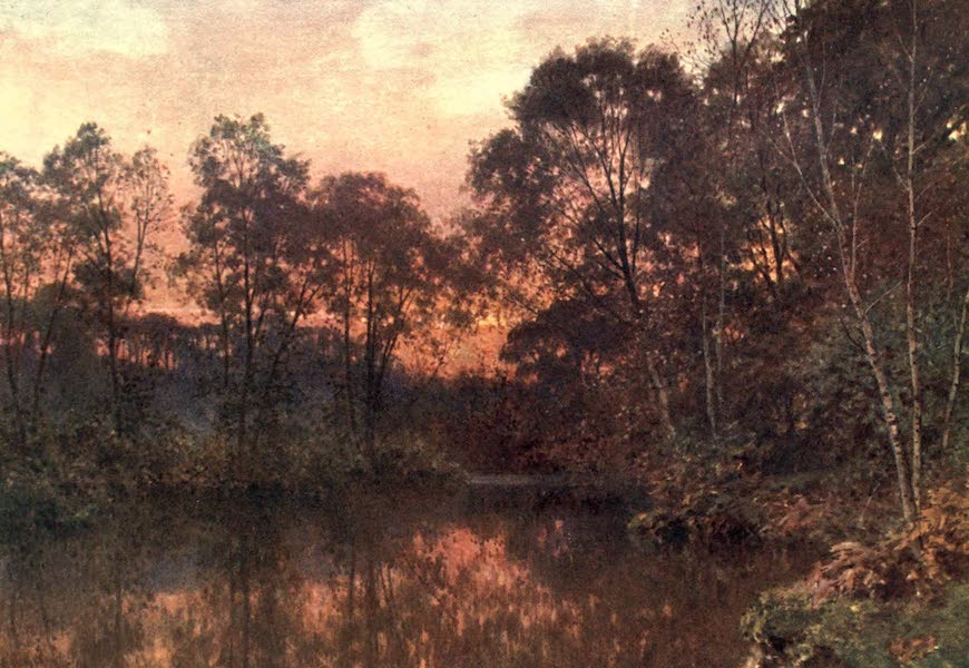 Surrey Painted and Described - The Last Glow (1906)