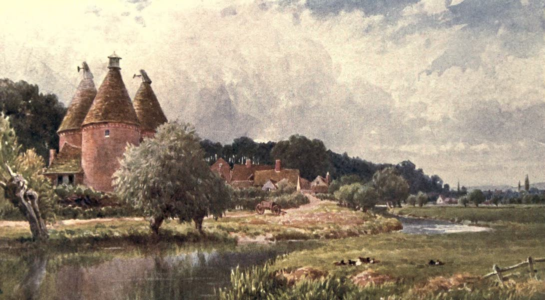 Surrey Painted and Described - Hop-Kiln, near Farnham (1906)