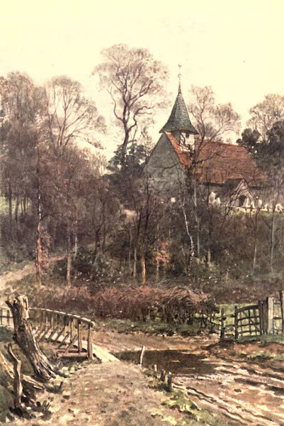 Surrey Painted and Described - Pyrford Church, near Woking (1906)