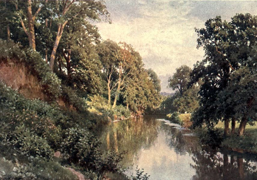 Surrey Painted and Described - The River Mole, near Dorking (1906)