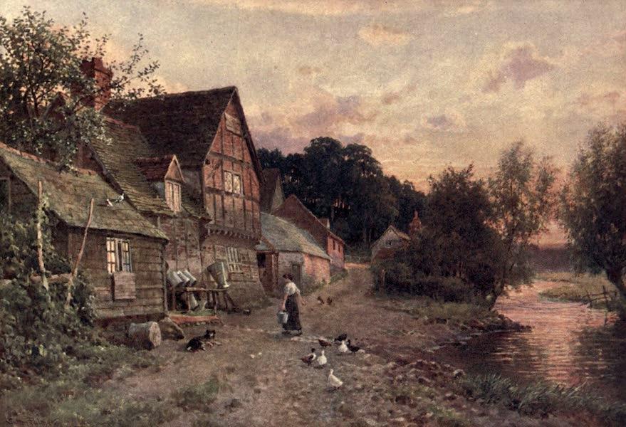Surrey Painted and Described - A Dairy Farm, Farnham (1906)