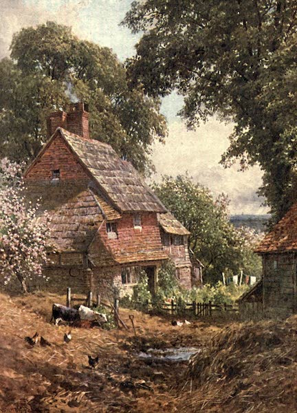 Surrey Painted and Described - An Old Farm, near Leith Hill (1906)