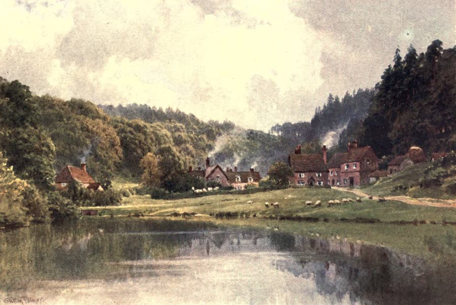 Surrey Painted and Described - Friday Street, on the Way to Leith Hill (1906)