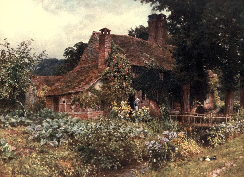 Surrey Painted and Described - Old Mill Cottages, Abinger (1906)