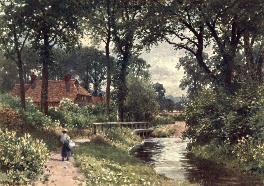Surrey Painted and Described - The Bourne, Chobham (1906)