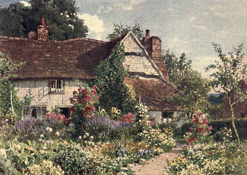 Surrey Painted and Described - A Cottage near Bisley (1906)