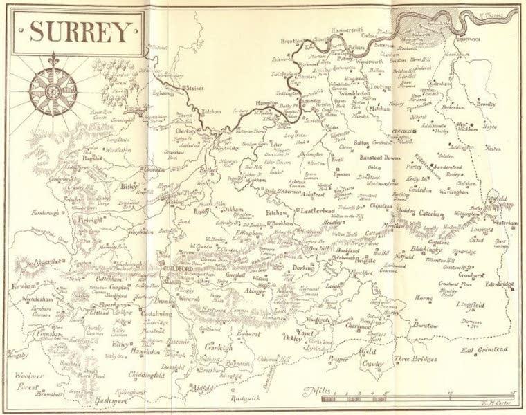 Surrey Painted and Described - Map of Surrey (1906)