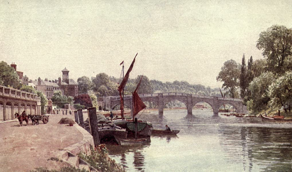 Surrey Painted and Described - Bury, from the Arun (1922)