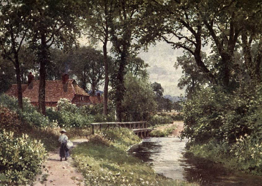 Surrey Painted and Described - Fishbourne Mill (1922)