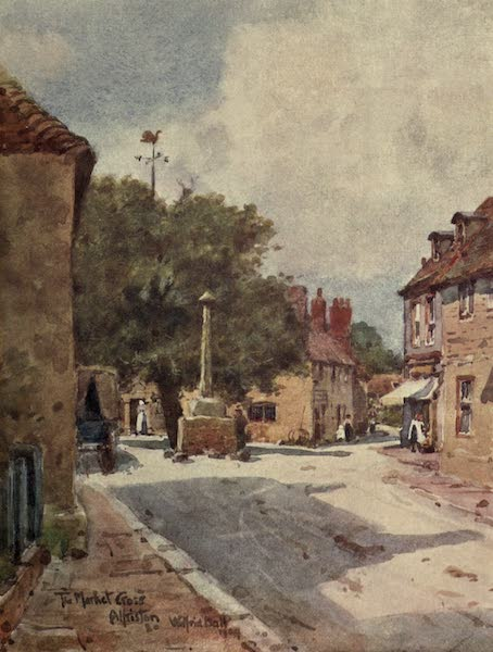 Sussex Painted and Described - Garden of the Moated House, Groombridge (1906)