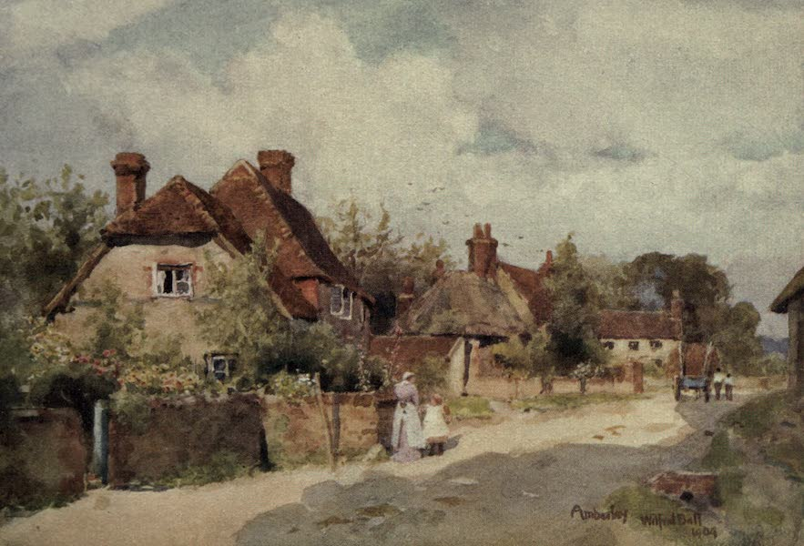 Sussex Painted and Described - Amberley Church (1906)