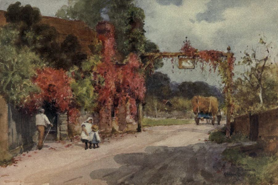 Sussex Painted and Described - Gatehouse, Battle Abbey (1906)