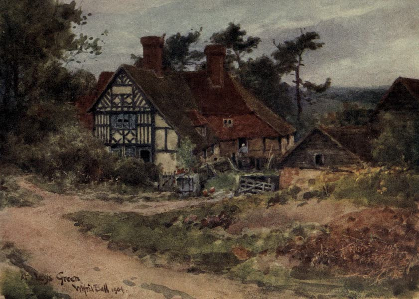 Sussex Painted and Described - The Mermaid Inn, Rye (1906)