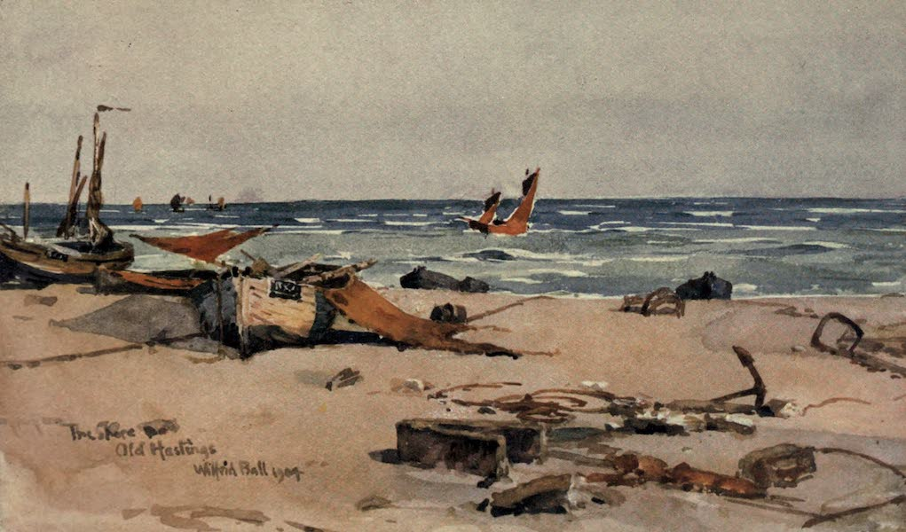 Sussex Painted and Described - Hastings, The Shore (1906)