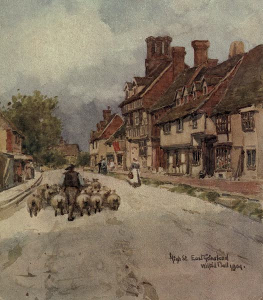 Sussex Painted and Described - High Street, East Grinstead (1906)