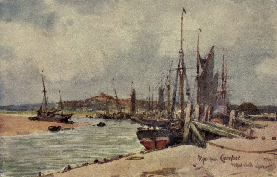 Sussex Painted and Described - Rye from Camber (1906)