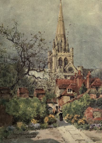 Sussex Painted and Described - King Richard's Walk, Chichester Cathedral (1906)