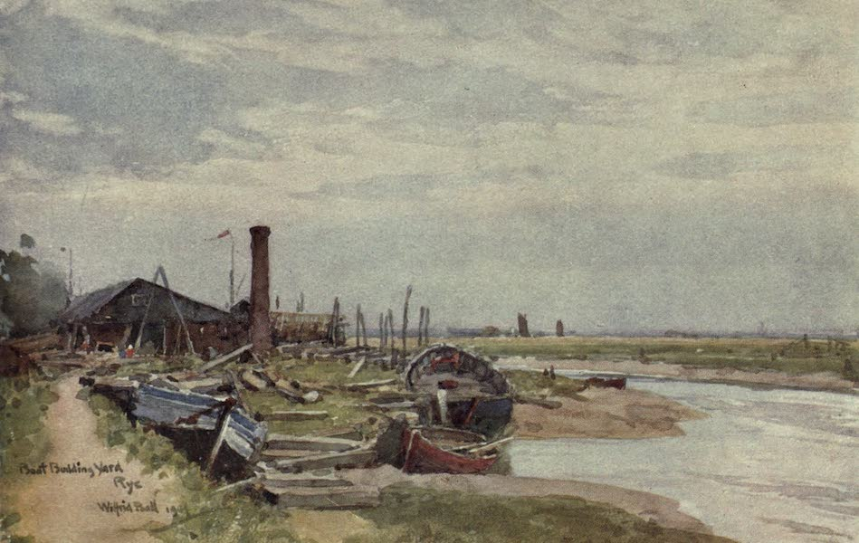 Sussex Painted and Described - Boat-building at Rye (1906)