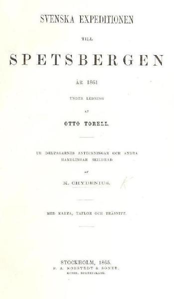 Svenska expeditionen till Spetsbergen - Title Page (1865)
