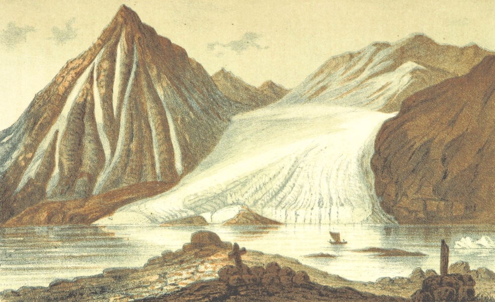 Svenska expeditionen till Spetsbergen - Glacier I Det Infra af Magdalena Bay d. 29 Juli 1861 (1865)