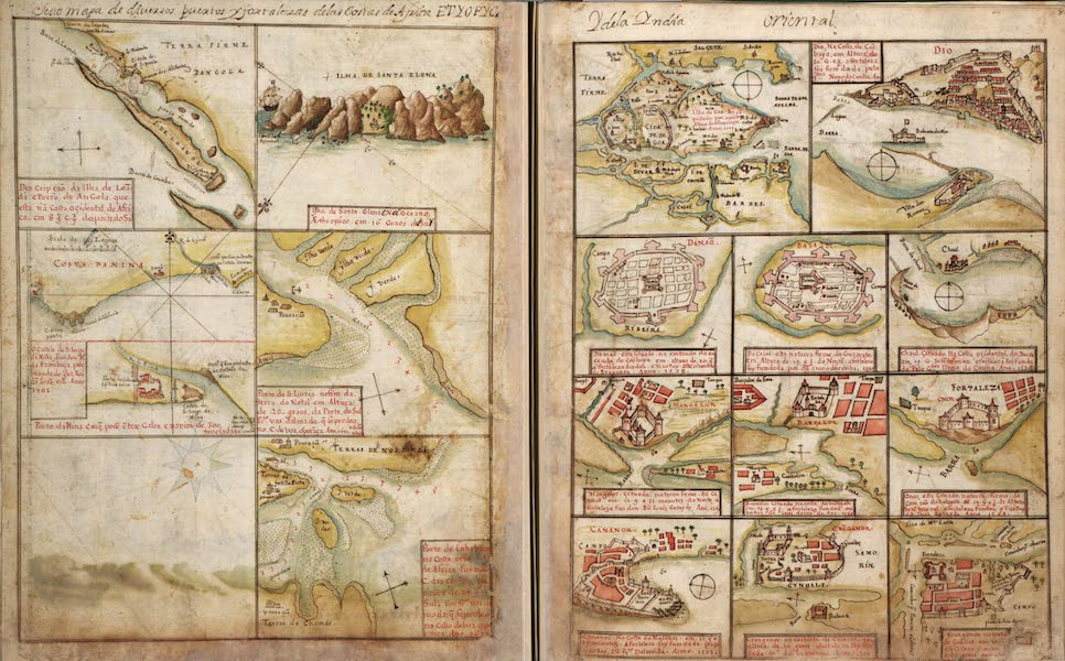 Plans of Ports, Islands, and Cities on the Coast of Africa and India