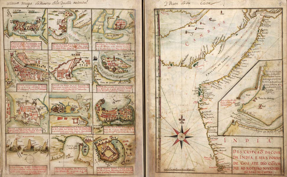 Plans of Cities, Ports, and Islands in East Africa, Asia, and the Coast of India