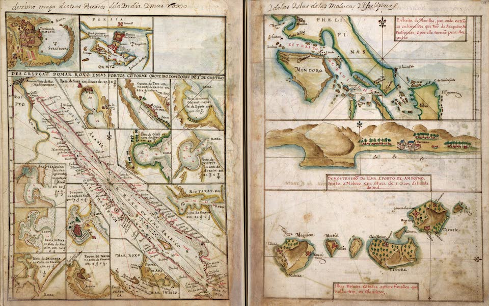 Plans of Ports, Islands, and Straits of the Red Sea, East Asia, and Philippines