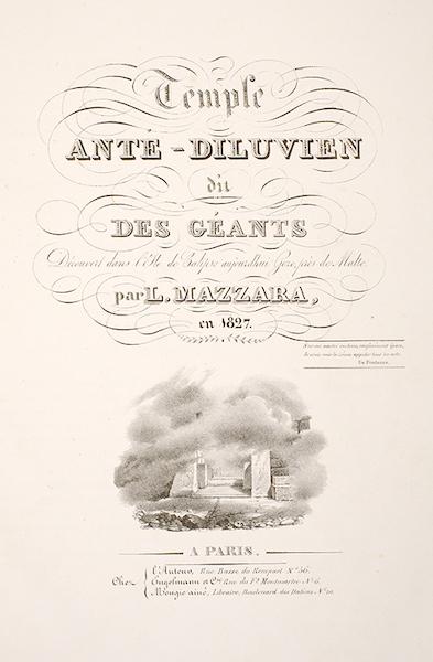 Temple Ante-Diluvien dit des Geants - Title Page (1830)