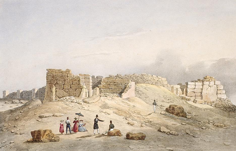 Temple Ante-Diluvien dit des Geants - Vue en distance du Temple des Geants découvert dans l'isle de Calypso, aujourd'hui Ile de Gozo (1830)